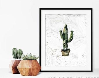 Modern cactus art Etsy