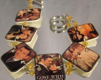 Gone With the Wind Bracelet - Old Movie Jewelry - Nostalgic Photo Jewellery