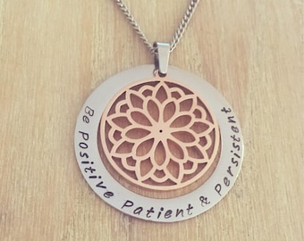 Personalised Necklace. Name Necklace. Hand Stamped.