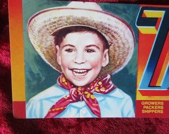 Denny Boy Vintage Fruit Crate Label