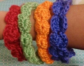 Crocheted baby shell headbands