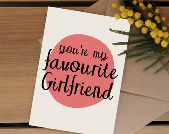Accountant birthday card favourite accountant funny card funny valentines day card favourite girlfriend card birthday card for your girlfriend anniversary bookmarktalkfo Images