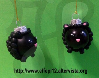 Balls to decorate the Christmas tree with black sheep