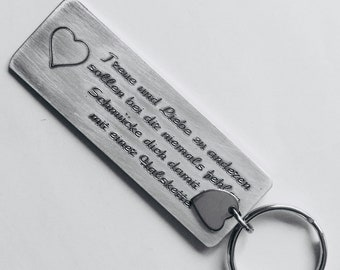Personalized Keychain on BOTH SIDES,Boyfriend Gift, Aluminum, Couples Keychain,Engraved Keychain,Husband Gift,Boyfriend Gift Driver keychain