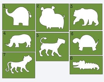 Zoo Animal Stencils for Painting Onesies, Onesie Painting Kit, Onesie Decorating Station, DIY Onesie, Custom Stencils