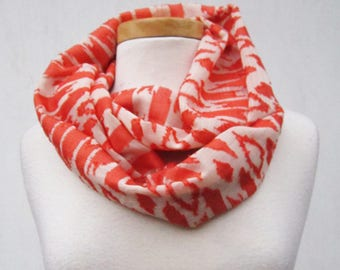 Sale! Creme Orange Scarf - orange and ivory georgette infinity cowl scarf