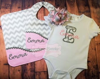 Baby Gift Set, - Personalized Baby Gift Set, - Monogrammed Gift Set, - Baby Shower Gift Set