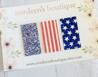 4th Of July Baby Snap Clips, Hair Clips, Glitter Snap Clips, Snap Clip Set, Faux Leather Snap Clips, Mini Snap Clips, Patriotic Hair Clips