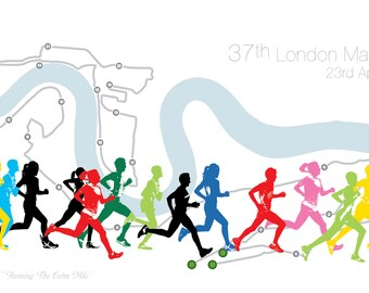 LONDON MARATHON 2017 Print