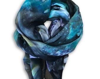 Emerald Design Sarong Size Silk Scarf