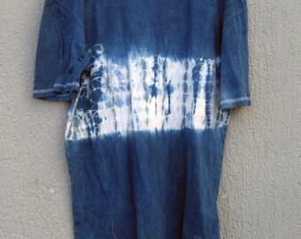 Indigo Hand Dyed Shibori T-Shirt 40 Size M