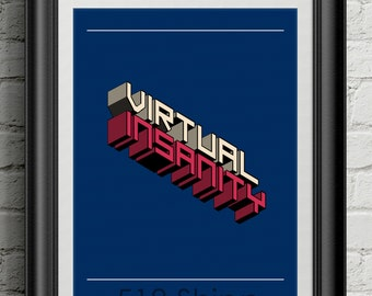 Jamiroquai Virtual Insanity Inspirational Quote Wall Decor Typography Print Motivational Poster