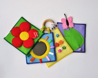 Baby's First Quiet Book/ Mini Quiet Book/ Busy Book/ Activity/ Montessori/ Fabric Book/ Travel Toy