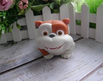 English Bulldog Mold British Bulldog 3d Mold Leavitt Bulldog 3d Dog Cartoon 3d Bulldog Mold Bulldog silicone Mold