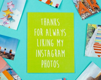 Instagram Card, Just Because, Friendship