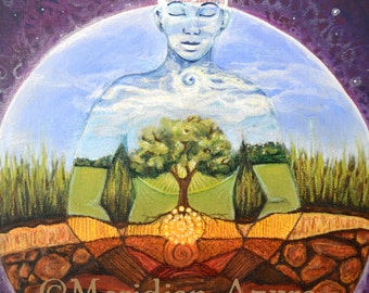 ACEO Gaia/ Mother Earth/ Pachamama Altar Art