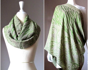 Nursing scarf, breastfeeding cover, green scarf, cover for breast feeding, nursing cover up