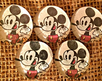 Recycled Glass Bubble Magnets-Mickey Mouse (Ready to Ship)