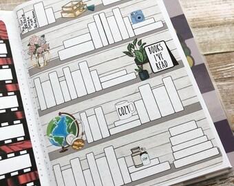 Books I've Read Sticker- great for all planners- Erin Condren, Emily Ley, Limelife, Plum Paper, Inkwell, Filofax, Ki