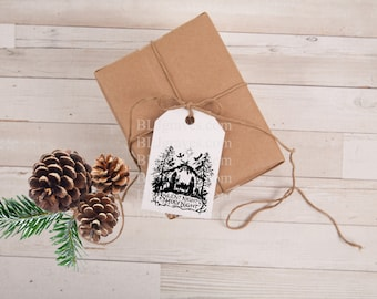 Christmas Tags Nativity Vintage Style Gift Tags Party Favor Treat Bag Tags TC047