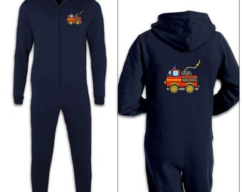 Fire Engine kids onesie