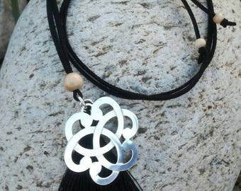 Serenity Black Wood beads necklace