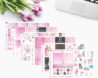Weekly Kit ~ LOVE IS All Around ~ Planner Stickers to fit Erin Condren Vertical and Hourly LifePlanner~ CAM 00339