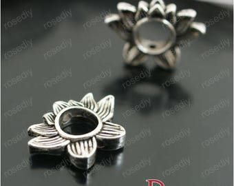 10 charms, Silver Lotus E26958 antique 19 * 14mm