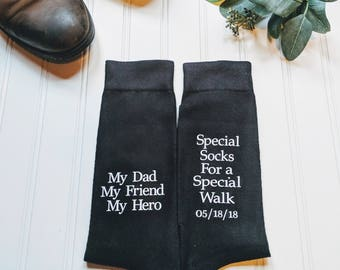 Father of the Bride socks, father of the bride gift, father of the bride shirt, Wedding socks, special socks, My Dad My Friend My Hero.