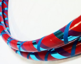 Teal Red All Sizes Hula Hoop Beginner//Polypro//Kid//Weighted//Exercise//Dance Hula Hoop // Customizable