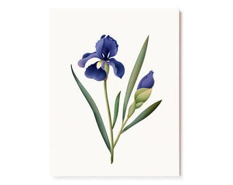Botanical Scented Card - Iris