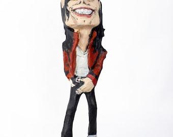 Michael Jackson paper mache figure