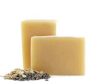 Savon lavande avoine | Tous les savon naturel, savon procédé à froid, savon végétalien, soins de la peau tout naturel, un savon fait maison, savon cadeau, savon de luxe