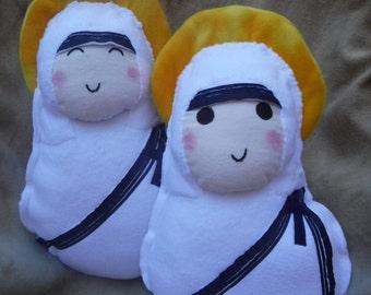 Saint Doll Teresa of Calcutta Stuffed Plush Catholic Religious Toy