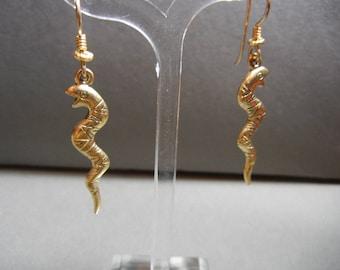 Laurel Burch snake earrings, Laurel burch earrings, Laurel burch snakes, vintage snake earrings, amphibiam jewelry, herpetology jewelry