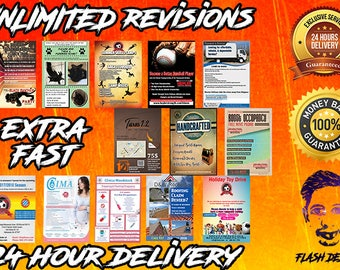 Custom Flyer Design, Flyer, Flyers, Professional Flyer Design, Pre-made Flyer, Business Flyer, Party Flyer in 24 HOURS