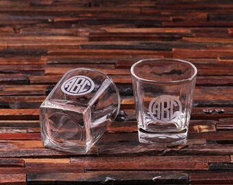 Personalized Whiskey Scotch Glass Set Gift for Men, Groomsmen, Father's and Dad (024641)