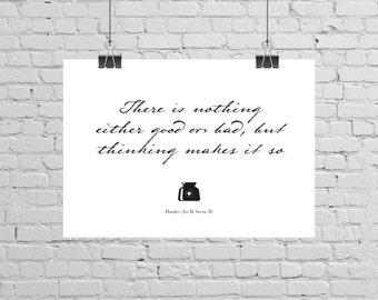 Shakespeare Hamlet Quote Print