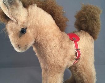 Vintage Plush Pony Toy, with Saddle