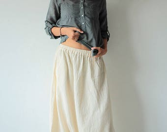 Hippie long pants..1410/ M,L,XL/harem/elastic/funky/cotton/brown/black/ivory/indigo/red/hippie pant/capri/mustard