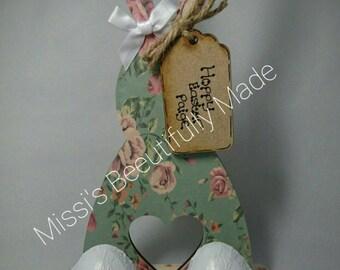 Mdf easter bunny ( mini egg holder)