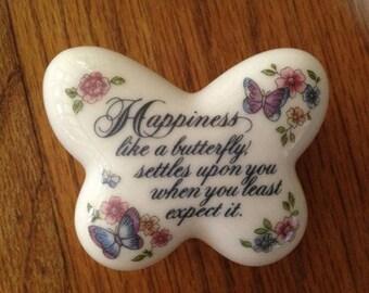 Avon Porcelain Butterfly Trinket Box