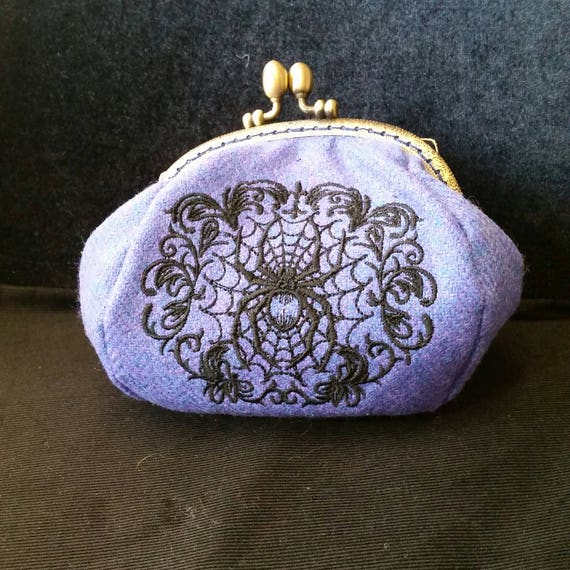 CP527. Gothic Spiderweb coin purse