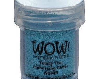 WOW-Embossing Powder-Totally Teal-Embossing Glitter