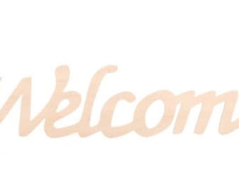 Wooden Welcome Sign, Ready to Decorate