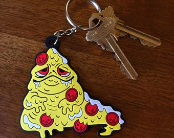 Pizza the Hutt Rubber Keychain