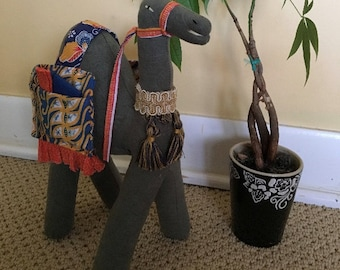 Small Exotic Stuffed Camel: Refugee-Made