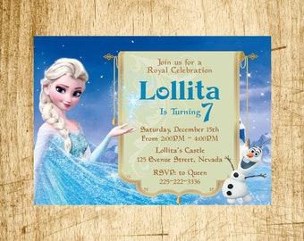 Frozen Birthday, Frozen Invitation, Frozen Birthday Invitation, Elsa Invitation, Elsa Birthday, Elsa Birthday Invitation, Queen Elsa frozen