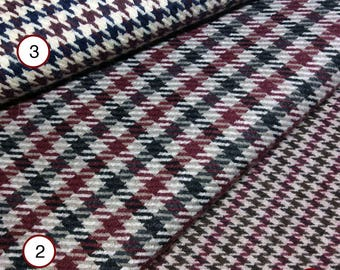 Pied-de-poule (houndstooth check or dogstooth) wool fabric - Made in Italy