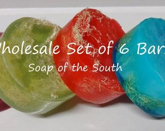 Wholesale Set of 6 Loofah (Luffa) Soaps
